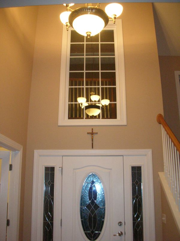 Blinds For Large Foyer Window : My home redux two story foyer window what to do about