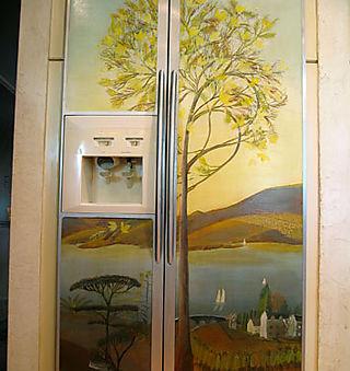 Refridgerator mural