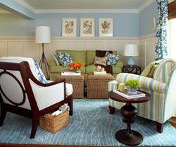 Paneled living room