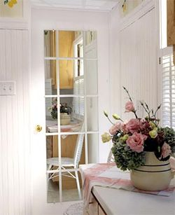 Faux french doors