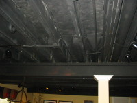 my home redux painting a basement ceiling black